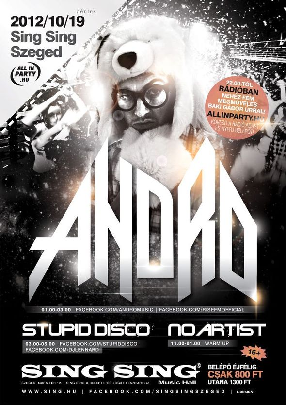 andro | stupid disco - sing sing szeged - dubstepmusic.hu
