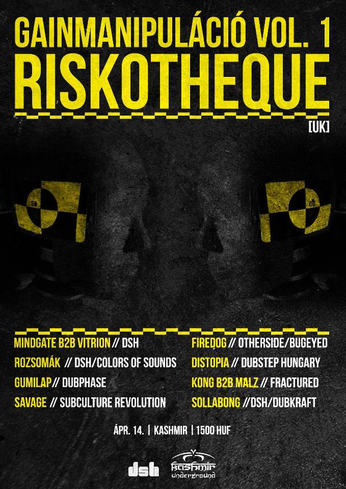 Gainmanipuláció vol. 1 RISKOTHEQUE (UK) - dubstepmusic.hu